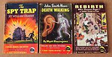 Lot of 3 Bart House 1944 vintage paperbacks #s: 3-5-6 mystery science fiction
