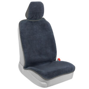 BDK UltraFit Waterproof Towel Car Seat Cover for Front Seat, Gray Trim