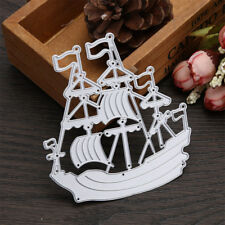 Beautiful Sailing Boat Ship Metal Cutting Dies Stencils For Scrapbook Paper FG