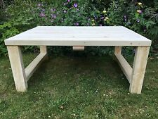 Handmade Wooden Garden Table - Made To Order - Many Sizes Available