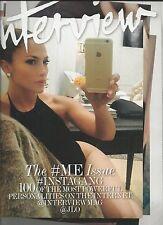 Interview magazine Selfie issue Jennifer Lopez Kim Kardashian Miley Cyrus Style