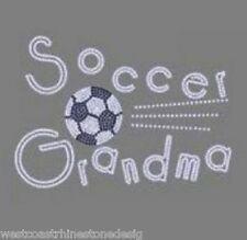 Soccer Grandma Rhinestone Iron on Transfer            ED79