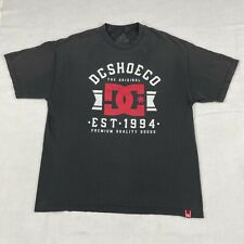 VINTAGE DC Skate Shoes T-Shirt Sz XL Men's Short Sleeve Black Graphic Tee Dyrdek