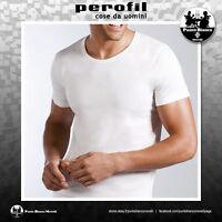 PEROFIL | Mezza Manica | Maglietta uomo manica corta 100% Cotone Filo di Scozia
