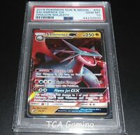 PSA 10 GEM MINT Salamence GX 44/70 SM Dragon Majesty HOLO RARE Pokemon Card
