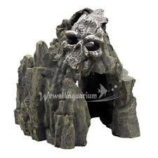 Aquarium Decoration Cave Fish Tank Ornament Skull Mountain Decor Hide Resin Rock