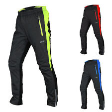 ARSUXEO  Men's Winter Thermal Cycling Casual Pants Windproof Trousers