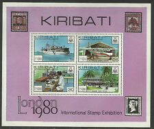 KIRIBATI 1980 LONDON STAMP EXHIBITION Souvenir Sheet MNH