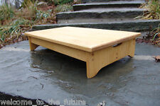 """Handcrafted Heavy Duty Wooden Bed Step Stool 14"""" extra deep, 24"""" L, 5""""H, Bedside"""
