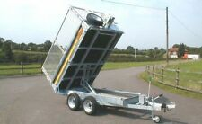BATESON 202H TIPPER CAR TRAILER TWIN AXLE 2 TONNE.. 2.6T 3.5T ALSO AVAILABLE