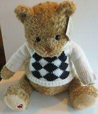 "GUND Plush little brown Bear w/ Sweater~limited edition 2001~15"" NWT"