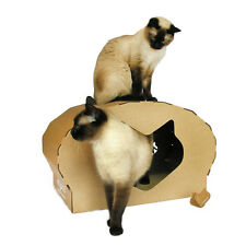 """Kittypod Dome Cat Play House Lounge Scratcher Bed, Recycled Cardboard, 24"""""""
