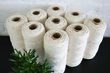 4mm Cotton Macrame 3 Ply Rope Cord 200 metres, Natural, unbleached