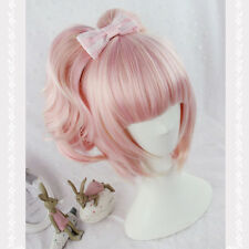 LOLITA Fashion Pink Ombre Wig Long Wavy Curly Gradient Hair Anime Cosplay Party