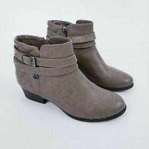 Liz Claiborne Womens Boots Brown Tan Ankle Buckle Size 7 M