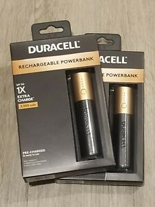 Duracell Rechargeable Power Bank 3,350 mAh, 2 packs, NEW, Sealed!