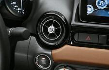 Fiat 124 Spider Set of Decorative Black Air Vent Rings New Genuine 71807614