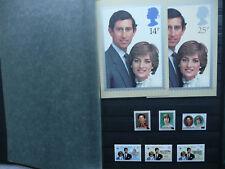 CLASSEUR-Timbres-Feuillets-Livrets-du-Mariage de Charles & Diana 1981
