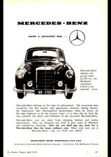 "1959 MERCEDES 220S W180 PONTON AD A1 CANVAS PRINT POSTER FRAMED 33.1""x23.4"""