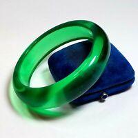 Vintage Translucent Lucite Bangle Bracelet Bright Green Stacking