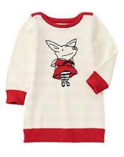 Gymboree Olivia the Pig Ivory & Red Sweater Dress Toddler Girl Size 2T NEW