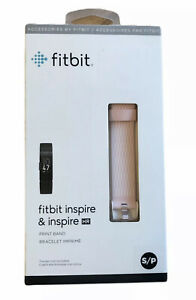 Genuine OEM Fitbit Print Band for Inspire & Inspire HR, Size S/P - Pink