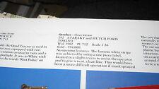 CORGI 292 STARSKY & HUTCH ORIGINAL VERY GOOD ORIGINAL SET- BOX WORN AS SHOWN