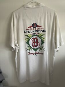 $175 Tommy Bahama MLB World Series 2018 Silk Button Shirt Boston Red Sox 3XL