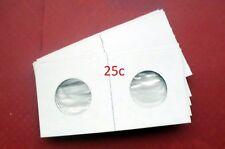 (100) Quarter Size 2 X 2 Mylar Cardboard Coin Flips for Coin Storage