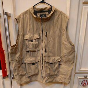 Redhead Utility Hunting Fishing  Ammo Khaki Cargo Vest Multi Pockets Men's 3XL