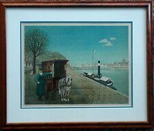 Jan Balet - Lithograph -  Panichette - Wood Framed & Double Matting