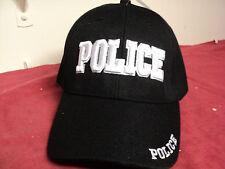 "Mens ""POLICE "" Logo baseball Cap Black new"