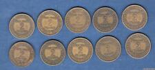 Lot de 10 pièces de 2 Francs Chambre de Commerce - III ème République, 1871 - 19