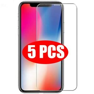 5X Tempered Glass for iphone 12 Mini 11 Pro Max XS XR 8 7 Plus Protector Screen