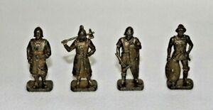 Kinder métal SCAME - Lot de 4 guerriers Huns - série complète  K95-107 à K95-110