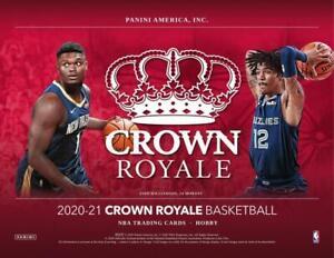 2020-21 Panini Crown Royale Basketball Hobby Box Factory Sealed #8