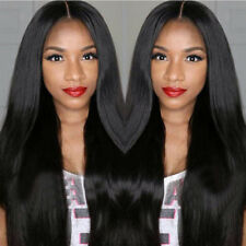 New Hair Wigs Womens Straight Glueless Lace Front Full Wig With Baby Hair US