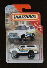 Matchbox '89 Chevy Blazer 4x4 * White * 2019