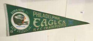 PHILADELPHIA EAGLES 1980 NFC CHAMPIONS SUPER BOWL XV 15 1981 PENNANT (#10)