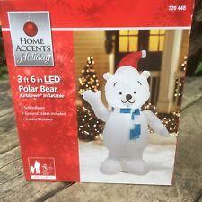 new christmas polar bear airblown yard decor gemmy led inflatable holiday 3 12