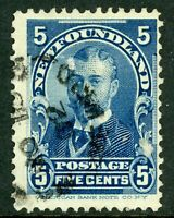 Canada 1899 Newfoundland 5¢ Blue Scott #85 VFU D417