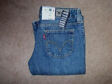 NEW Ladies Red Tab Levi 572 Bootcut Blue Jeans W28 L36