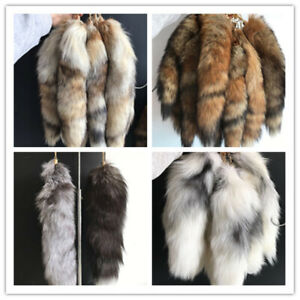 10pcs/lots Real Fox Fur Tail Keychain Bag Charm Handbag Accessories Cosplay Toy