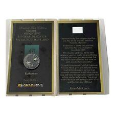 Grainmint 0.25 Gram 99.99% Pure Ruthenium Crystal limited numbered Bullion Card