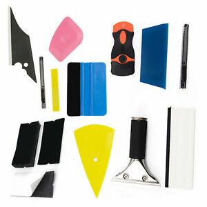 8 in 1 Car Window Vinyl Wrap Tool Wrapping Squeegee Felt Film Cutter Kit
