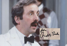 ANDREW SACHS Signed 12x8 Photo Display MANUEL in FAWLTY TOWERS COA