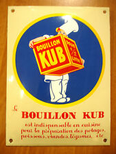 PLAQUE EMAILLEE BOMBEE BOUILLON KUB MARMITON CUISINE POTAGE enamel sign