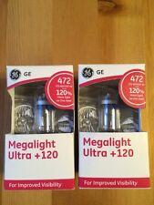 2x GE Megalight Ultra +120% Car Bulb Halogen  12V 472