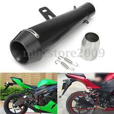 38-51MM Black Universal Motorcycle Exhaust Muffler Pipe For Honda CBR600 Yamaha