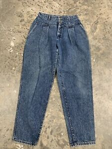 Ladies Lee Baggy Super High-Waisted Tapered Jean - W30 L31 - Mid Blue